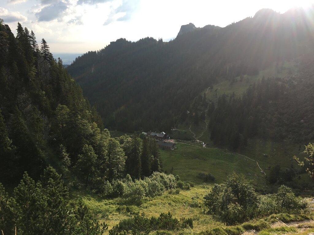 24.08.2017 Ein letzter Blick auf die Tutzinger Hütte