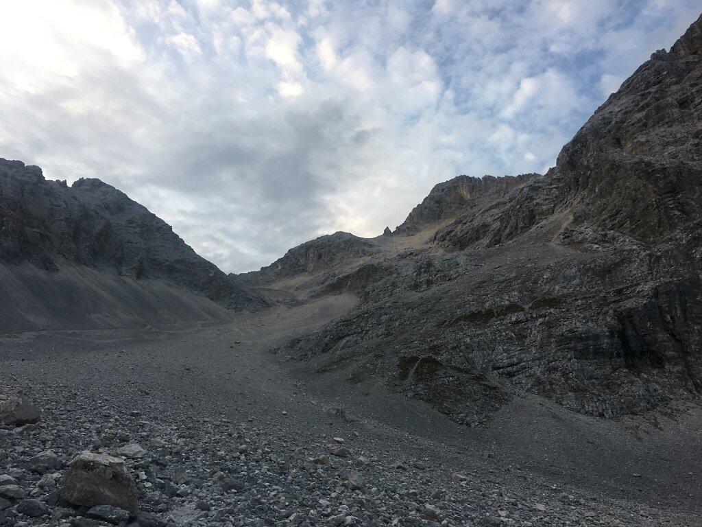 26.08.2017 Die Birkkarspitze rückt näher