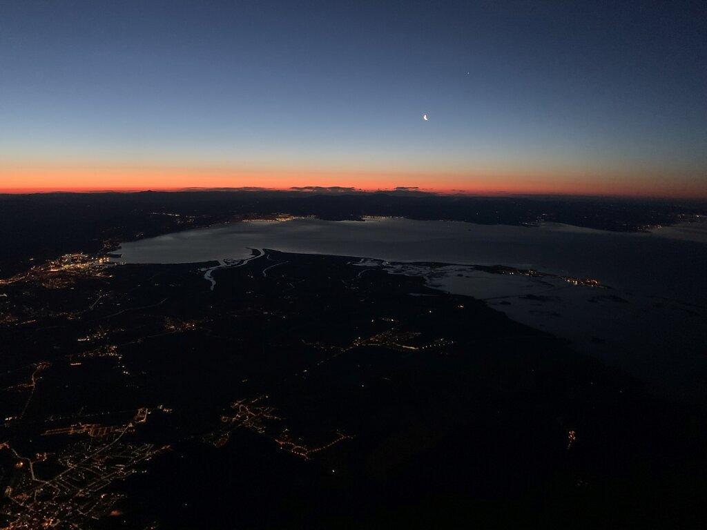 20.02.2020 Triest - München   Der Golf von Triest im Morgengrauen