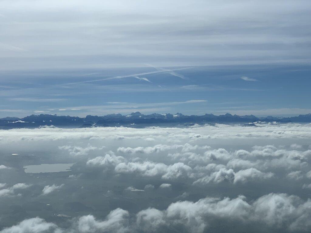 22.09.2021 Zürich - München | Schweizer Alpen über den Wolken
